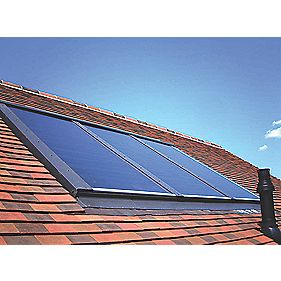 RM Solar Three Panel In Roof Flashing-Tile