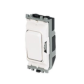 MK 2-Way 20A SP Grid Switch White