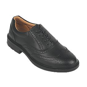 City Knights Brogue Executive Safety Shoes Black Size 9