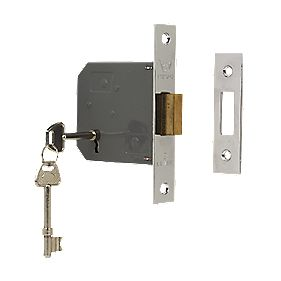 "Sterling 3-Lever Mortice Deadlock Nickel 3"" (76mm)"