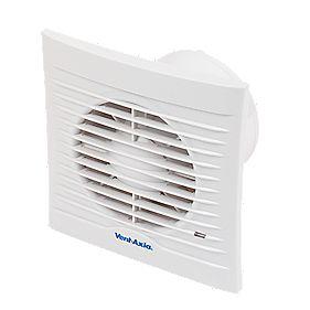 B and Q 100 13W Silhouette Axial Bathroom Fan
