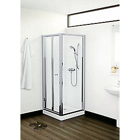 Mira Flight ACE Shower Enclosure Bi-Fold Door Square Silver 800 x 1830mm