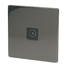 LAP 1-Gang Coaxial Socket Black Nickel
