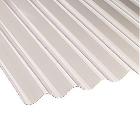 Corolux Corrugated PVC Sheet Clear 762 x 1830 x 1.1mm