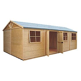 Shire Tongue & Groove Mammoth Workshop 3.6 x 7.2 x 2.8m Assembly Included