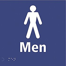 "Braille ""Male Toilet"" Sign 150 x 150mm"