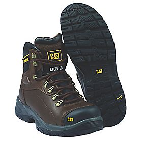 Cat Diagnostic Safety Boots Brown Size 11