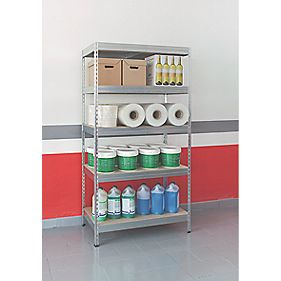 Boltless Freestanding 5-Tier Galvanised Shelving 1920 x 1000 x 500mm