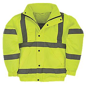 "Hi-Vis Bomber Jacket Yellow Large 52½"" Chest"