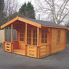 Lydford 1 Log Cabin 3.5 x 4.4 x 2.6m Assembly Included