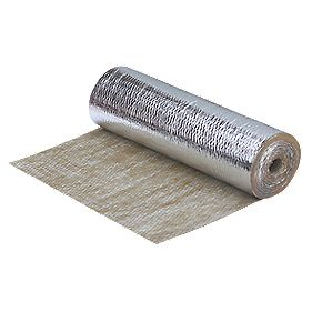 Duralay Premier Sponge Rubber Wood & Laminate Flooring Underlay 3mm 10m² Silver / Brown