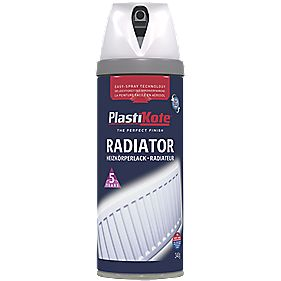 Plasti-Kote Radiator Paint Gloss White 400ml