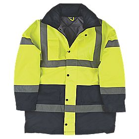 "Hi-Vis 2-Tone Padded Coat Yellow/Black Large 43"" Chest"