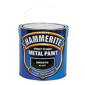 Hammerite Smooth Paint Black 2.5Ltr