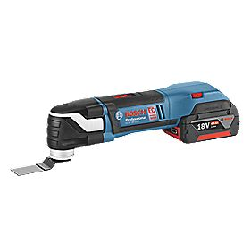 Bosch GOP18VEC1 18V 4Ah Li-Ion Cordless Multi-Cutter with 20 Accessories