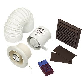 Xpelair Britex In-Line White 30W Shower Fan Kit