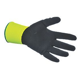 Hi-Vis Grip Gloves Yellow X Large