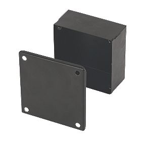 Appleby Black Adaptable Box with Knockouts 100 x 100 x 50mm