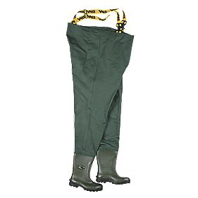 Vass-Tex 700 Waterproof Non-Studded Safety Chest Waders Green Size 8