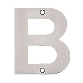 Eclipse Door Letter 'B' Satin Stainless Steel 102mm