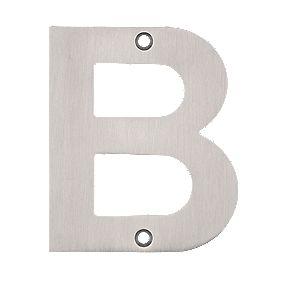 Eclipse Door Letter B Satin Stainless Steel