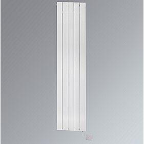 Ximax Oceanus Electro Vertical Designer Radiator White 1800 x 370mm 2046BTU