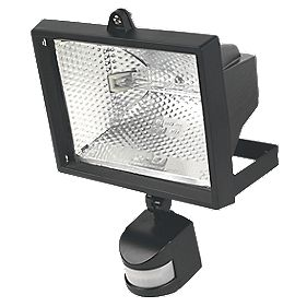 Floodlight 400W Black PIR Photocell