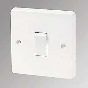 Crabtree Anti-Microbial 10AX Intermediate 1-Gang Switch