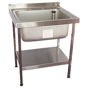Franke Industrial Sinks : ... Sink Stainless Steel 1-Bowl 750 x 650mm Commercial Kitchen Sinks