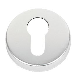 Euro Profile Escutcheon Satin Aluminium 50mm Pair