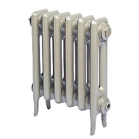 Cast Iron 460 Designer Radiator 2-Column Bronze H: 460 x W: 397mm