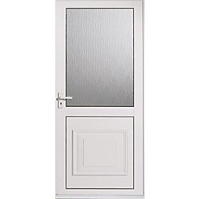 Ellbee Cumbria White Double-Glazed Back Door RH Aluminium 762 x 1981mm