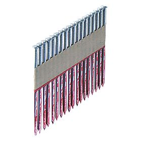 Bostitch Ring Galvanised Framing Nails 2.8 x 75mm & 2 x Fuel Cells