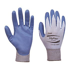 Ansell HyFlex 11-518 Cut-Resistant Ultralight Gloves Blue / Grey Large