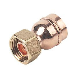 "Straight Tap Connector 22mm x ½"" Pack of 5"