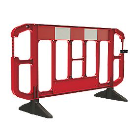 JSP Titan Traffic Barrier Red & White 2 x 1m