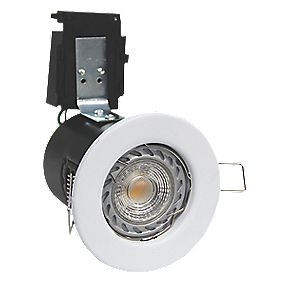 Robus Fire Rated Fixed LED Downlight IP20 White W