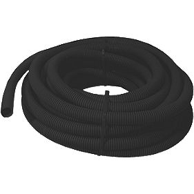 Tower Corrugated Conduit Black 20mm x 10m