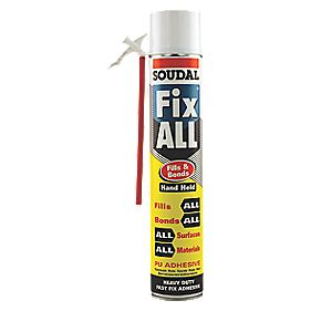 Soudal Expanding Sticky Foam Hand-Held 750ml