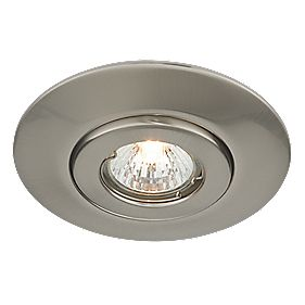 Circular Low Voltage Ceiling Downlight Converter Brushed Chrome 12V