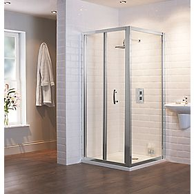Moretti Bi-Fold Shower Enclosure Door Chrome Effect 800mm