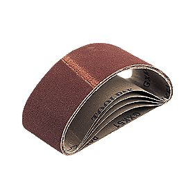 Cloth Sanding Belts Unpunched 65 x 410mm 120 Grit Pack of 5