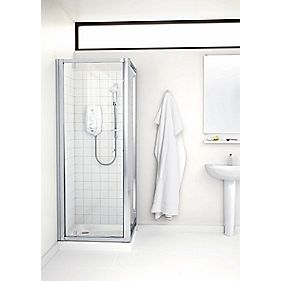 Mira Flight ACE Square Shower Pivot Door Silver 760mm