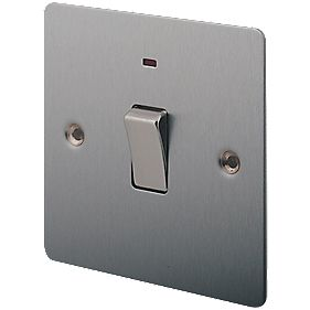 LAP 20A DP Switch with Neon Brushed Stainless Steel