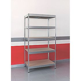 Boltless Freestanding 4-Tier Galvanised Shelving 1920 x 1200 x 500mm