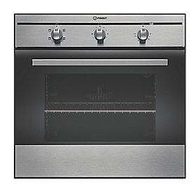 Indesit FIM 21 KBIX Single Built-In Elec. Conventional Oven SS 595 x 595mm