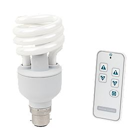 LightwaveRF Dimmable 20W Spiral CFL BC with Li-Ion Powered Remote Control