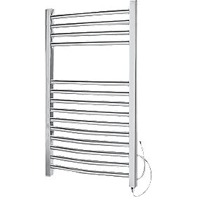 Kudox Curved Electric Towel Radiator Chrome 400 x 700mm 150W 511Btu