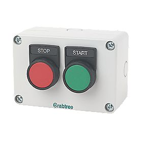 Crabtree 2-Way Stop/Start Push Button