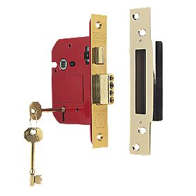 "ERA 5-Lever BS 3621: 2007 Mortice Sashlock Brass 3"" (76mm)"